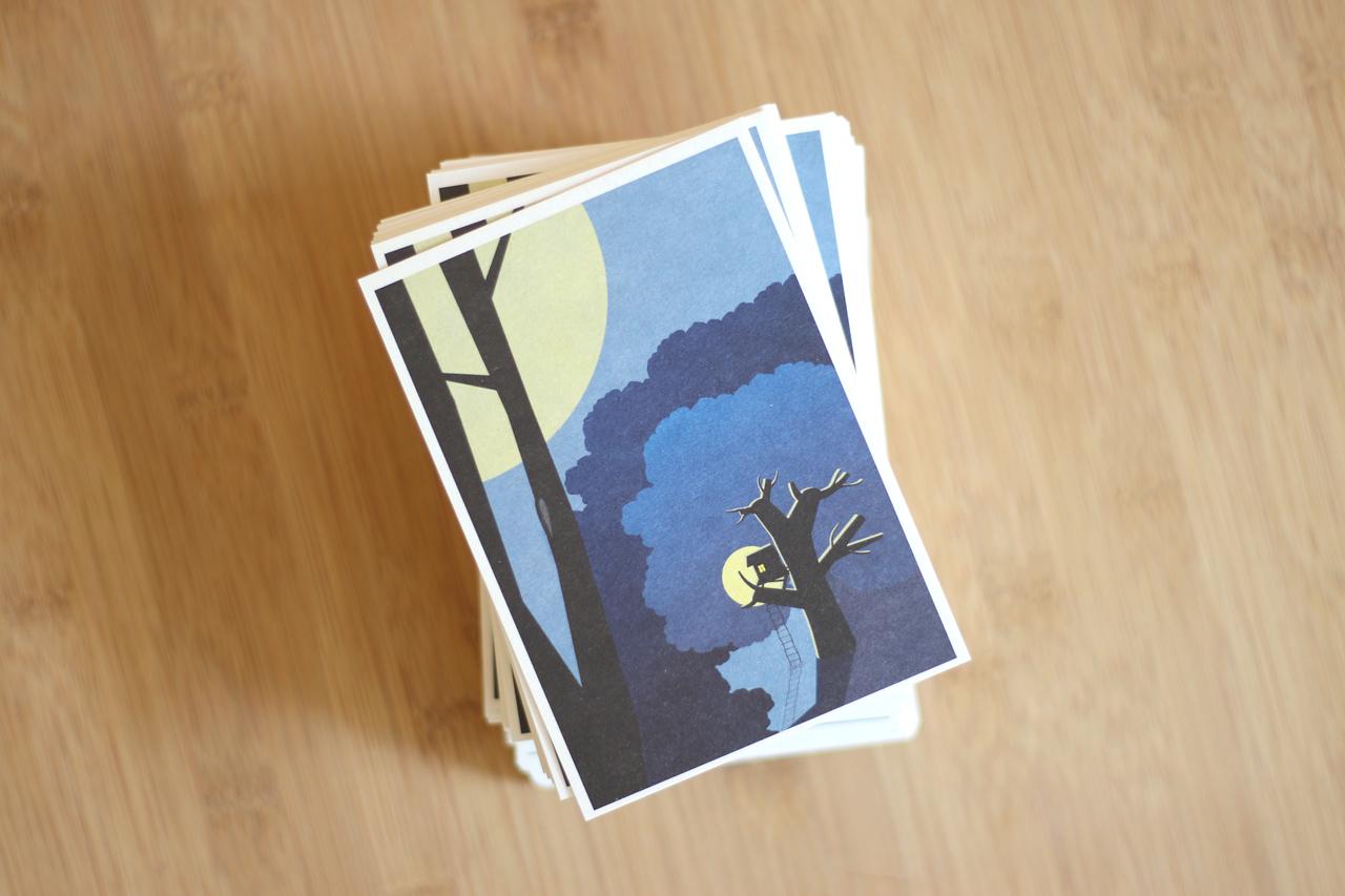 postkarte baumhaus